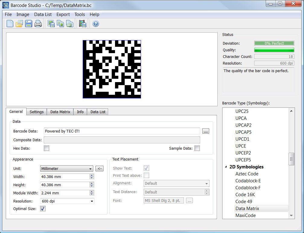 Barcode Studio for Barcode Creation