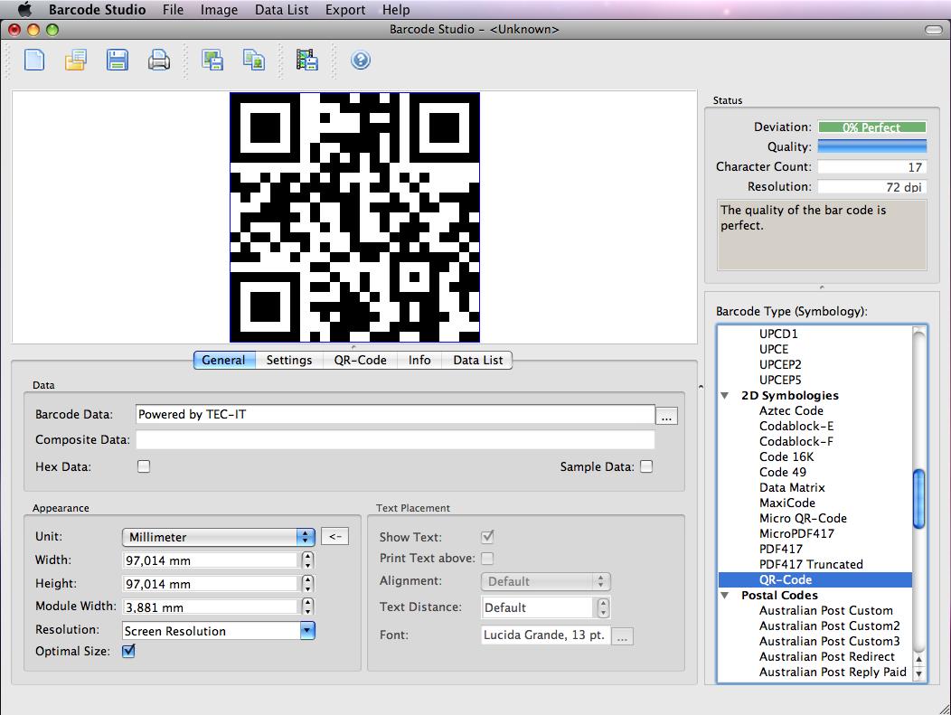 Barcode Creator Software Barcode Studio for Mac