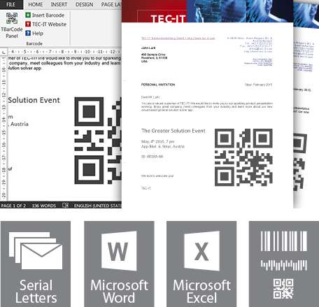 Barcode software barcode maker 1d gs1 and 2d bar code for Barcode label template word