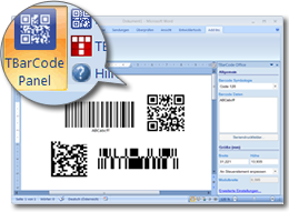 Microsoft Office Barcode Add-In