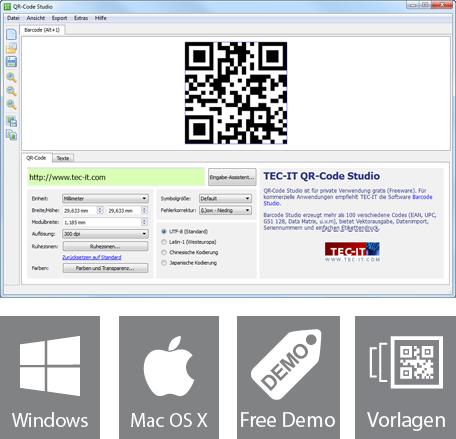 Kostenlose qr code software online gratis barcodes - Visitenkarten freeware ...