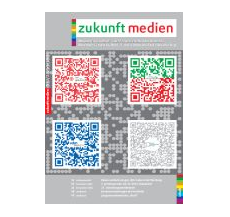 Recent edition of zukunft medien concentrating on advertising with QR codes