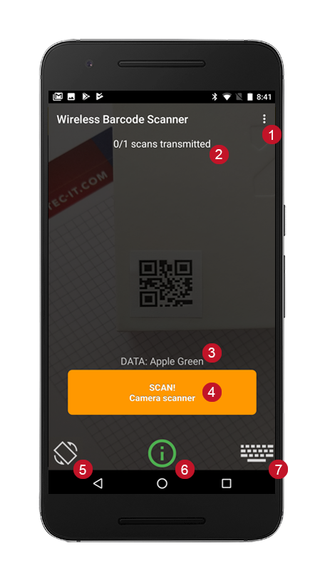 Wireless Barcode Scanner for Android - User Manual