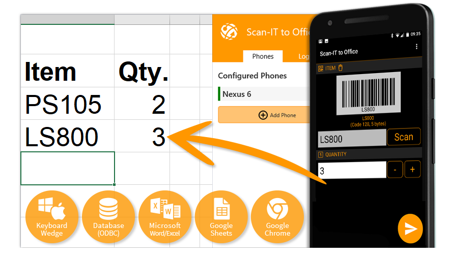 Daten Und Barcodes Mobil In Echtzeit Erfassen Scan It To