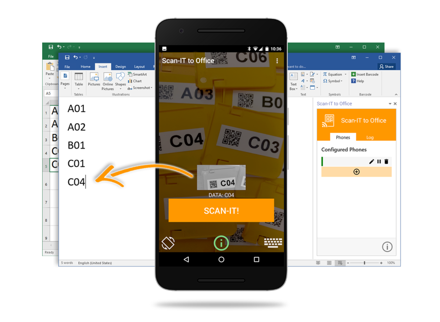 Scan-IT to Office: Data Collection for Word, Excel & Google Sheets