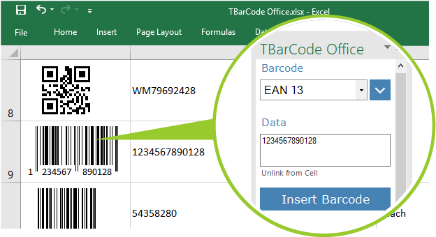 TBarCode Office: Barcode Add-In for Microsoft Excel