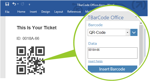 TBarCode Office: Barcode Add-In for Word