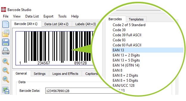 Barcode Label Software - Barcode Studio Label Program